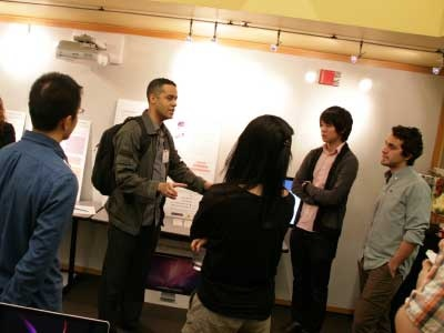 Design Science students present their projects at the Design Flash open house event.