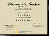 Lean Logistics Certificate