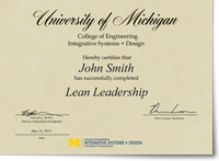 Lean leadership university of michigan professional education lean leadership certificate yadclub Gallery