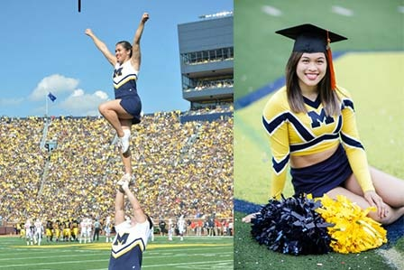 A Balancing Act: Graduate Studies and Varsity Cheerleader