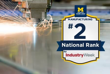 Manufacturing Program Ranked #2