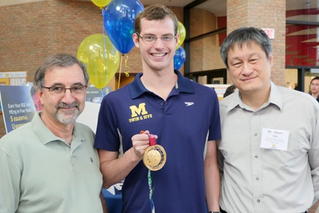 ISD's Sean Ryan, Olympic Swimmer, Provides Motivating Words at Reception