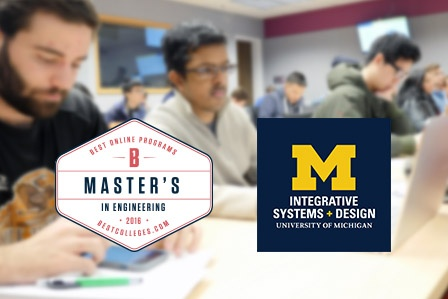 ISD Ranked Among Nation's Top Online MEng Programs